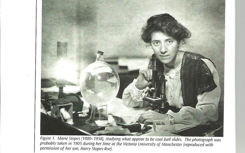 Marie Stopes at the University in 1905